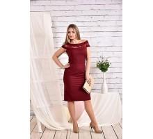 Платье бордо 42-74 размер ККК420-0468-1