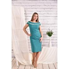 Платье бирюза 42-74 размер ККК421-0468-2