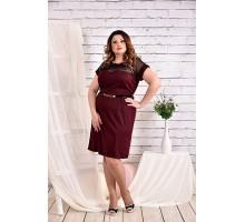 Бордовое платье 42-74 размер ККК416-0469-3