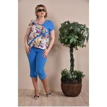 Капри женские синие  ККК1-012-2