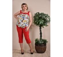 Блузка женская с цветами  ККК1-0236-3