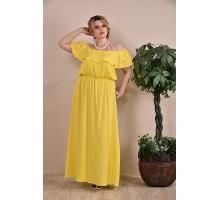 Платье летнее желтое  ККК1-0261-1