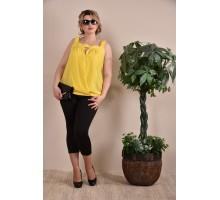 Блузка женская желтая  ККК1-0236-1