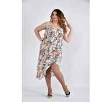 Платье принт оранж ККК1060-0498-1