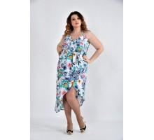 Голубое платье ККК1058-0498-3
