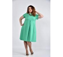 Зеленое платье ККК1036-0507-1