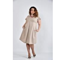 Бежевое платье ККК1034-0507-3