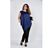 Блузка синяя ККК1031-0508-3