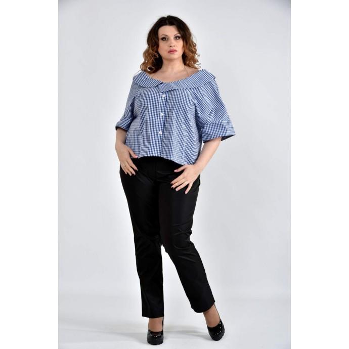 Блузка синяя 42-74 размеры ККК1029-0509-2