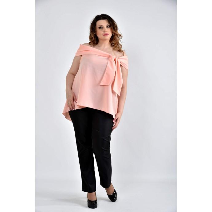 Блузка персиковая 42-74 размеры ККК1026-0510-3