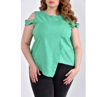 Зеленая блузка 42-74 размеры ККК1019-0512-3