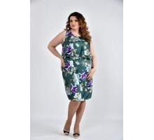 Платье темно зеленое 42-74 размеры ККК1016-0513-3