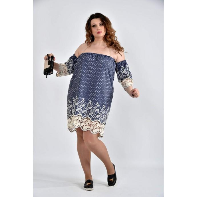Платье с ромашками 42-74 размеры ККК1014-0514-2