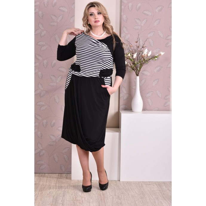 Платье в полоску ККК94-0178-3