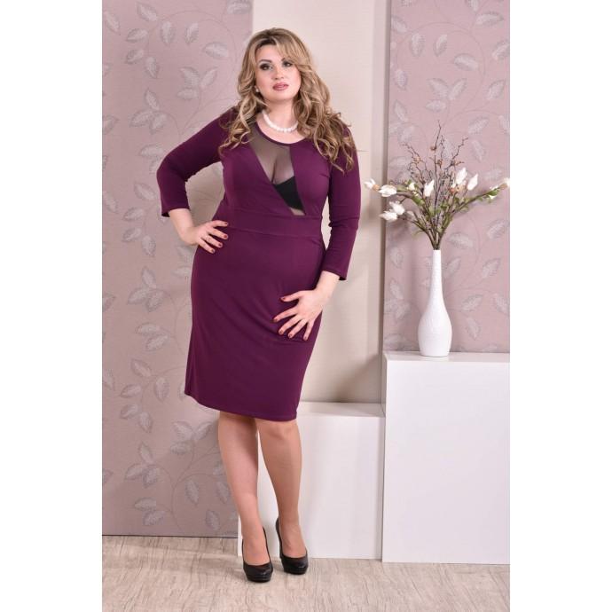 Фиолетовое платье ККК97-0195-3