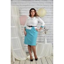 Белое с голубым платье 42-74 размер ККК214-0440-3