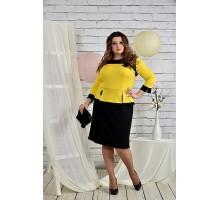 Платье желтое 42-74 размер ККК29-0442-2