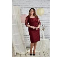 Платье женское бордовое 42-74 размеры  ККК2-0450-1