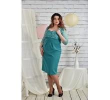 Платье женское бирюзовое 42-74 размеры  ККК2-0450-2
