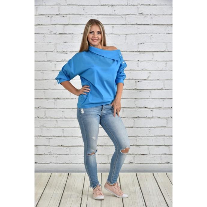 Блузка голубая ККК1512-0341-2