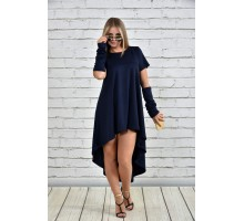Платье синее ККК1510-0342-1
