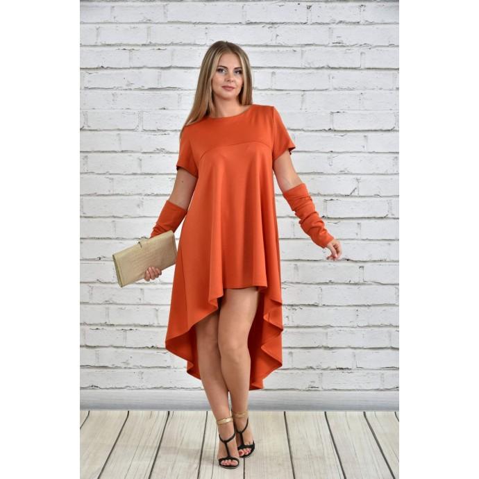 Платье оранжевое ККК158-0342-3