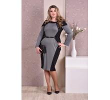 Черное с серым платье ККК82-0183-1