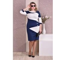 Молочно-синее платье ККК84-0185-1