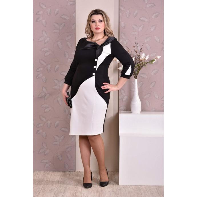 Черно-белое платье ККК87-0186-1