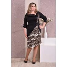 Леопардовое платье ККК810-0186-4