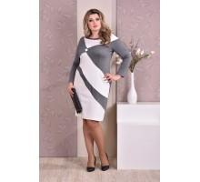 Серое платье ККК812-0187-2