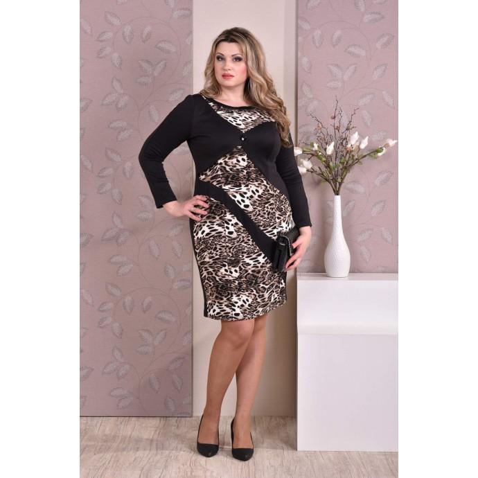Леопардовое платье ККК813-0187-3