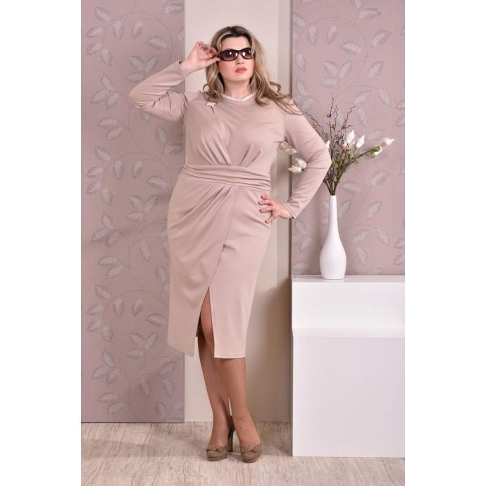 Бежевое платье ККК818-0198-2