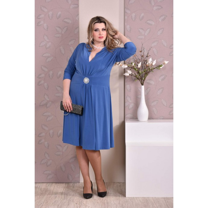 Голубое платье ККК821-0205-2