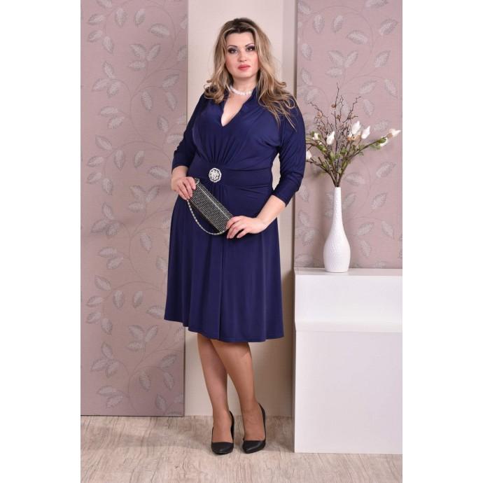 Темно-синее платье ККК823-0205-4