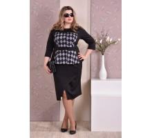 Черный костюм в ромбик ККК81-0213-2