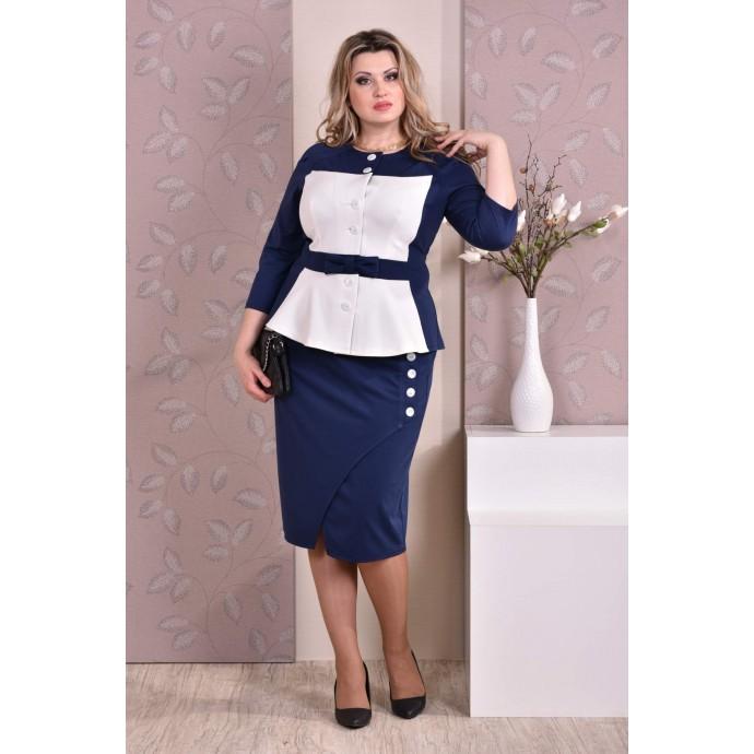 Сине-белый костюм ККК825-0213-3
