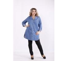 Синяя джинсовая рубашка КККZ11-j01447-2