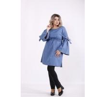 Голубое джинсовое платье-туника КККZ13-j01446-2