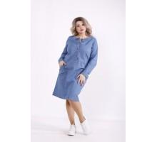 Голубое джинсовое платье КККZ17-j01443-2