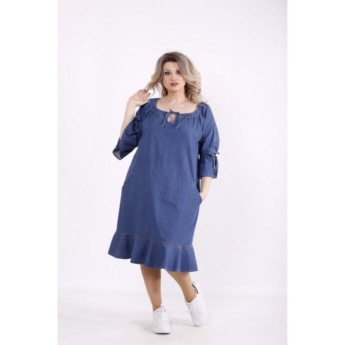 Джинсовое синее платье КККZ19-j01442-2