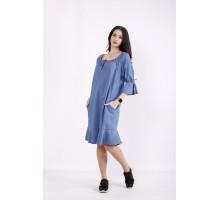 Джинсовое голубое платье КККZ20-j01442-1