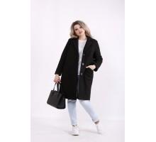 Черное элегантное пальто КККZ3-t01480-1