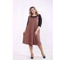 Терракотовое платье КККZ24-01440-3