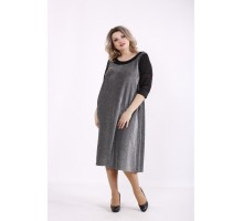 Платье ниже колена с синим оттенком КККZ25-01440-2
