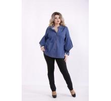 Синяя джинсовая рубашка КККZ4-j01450-2