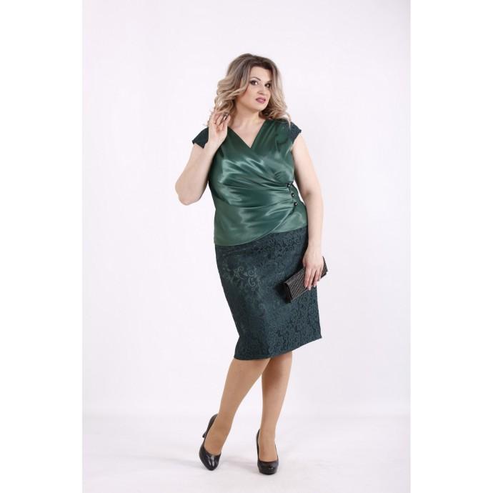 Зеленый комплект: блузка и юбка КККZ37-01436-2