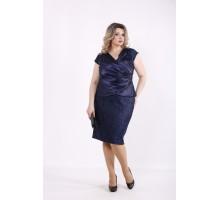 Синий комплект: блузка и юбка КККZ38-01436-1