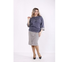 Костюм джинс: блузка и юбка КККZ42-01434-2