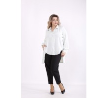 Мятная блузка с длинной спинкой КККZ6-01449-3